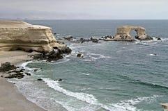 Monument la portada in chile. Grandiose monument `la portada` on the north coast of Chile Royalty Free Stock Photography