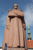 Monument for the Latvian Riflemen in Riga, Latvia. Stock Images