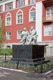 Monument Lenin and Gorki Royalty Free Stock Photography