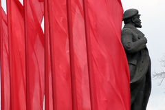 Monument of Lenin Royalty Free Stock Photography