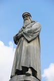 Statue of Leonardo da Vinci Stock Photos