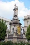 Monument of Leonardo da Vinci Stock Photography