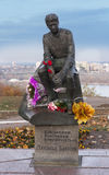 Monument of Leonid Bykov. He was a Soviet-Ukrainian actor, film director,KIEV, KYIV, UKRAINE and script writer Royalty Free Stock Images