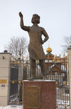 Monument of Levsha (the Lefthander), Russian folk craftsman, hero of story by Nikolai Leskov. Royalty Free Stock Photo