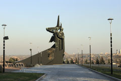 Monument Liberators of Donbass. DONETSK, UKRAINE - NOVEMBER 1, 2010: Monument Liberators of Donbass (Sculptor Yu.I. Baldin, A.N. Porozhnyuk, Architect V.P Stock Photography