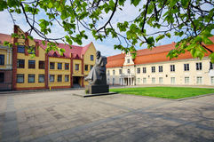Monument of Lithuanian poet Maironis Royalty Free Stock Photos