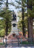 Monument located on the main square of the city Cuenca Stock Photos