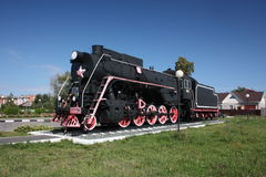 Monument locomotive at the station Shumerlya. Royalty Free Stock Photography