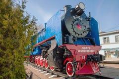Monument. Lokomotive. Stockbilder