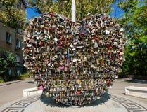 Monument `Love Heart of Odessa` Stock Photo
