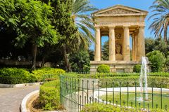 Monument, lower barakka gardens. Captured 26.09.2017 Stock Image