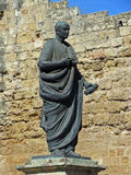 Monument of Lucius Annaeus Seneca in Cordoba. Monument of the roman philosopher Lucius Annaeus Seneca in the old city of Cordoba Stock Photography