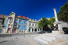 Monument Luis de Camoes in Coimbra, Portugal Royalty Free Stock Photos