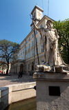 Monument in Lviv Stock Images