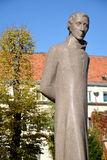 Monument Lyudvikasu Reza (Ludwig Reza) (1776-1840) in Kaliningrad. The description Lyudvikas Reza (1776-1840) — the Lithuanian poet, the critic, the royalty free stock images