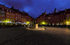 Monument in the main square of Warsaw Stock Photos