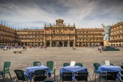 Monument. Major Plaza of of Salamanca, Spain, Heritage of the Humanity Stock Images