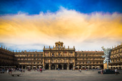 Monument. Major Plaza of of Salamanca, Spain, Heritage of the Humanity Stock Photos