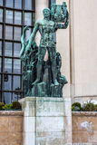 Monument. Male with instrument Paris Stock Photo