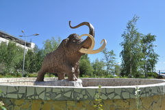 Monument mammoth. Stock Photos