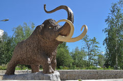 Monument mammoth. Stock Image