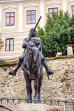 Monument of man with horse Stock Image