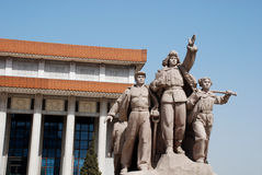 Monument Mao and Chinese People(Beijing,China) stock photography