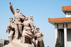 Monument Mao and Chinese People(Beijing,China) Royalty Free Stock Images