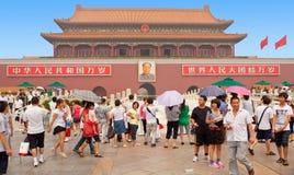 Monument Mao Zedong van Tienanmen het vierkante Peking stock foto's