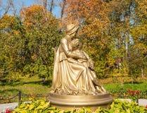 Monument Maria Alekseevna Hannibal and little Alexander Pushkin Royalty Free Stock Photography