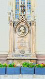 Monument of martin luther in halle/saale Stock Photo