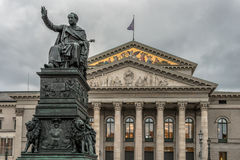 Monument Max Joseph near National Theatre Munich Stock Photography
