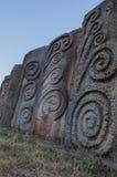 Monument Memorial Parks Hisar in Leskovac lizenzfreies stockbild