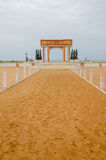 Monument or memorial of the slave trading time at the coast of Benin. Near Ouidah Stock Photos