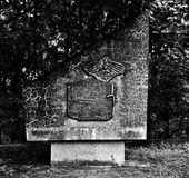 Monument memory. Artistic look in black and white. Royalty Free Stock Photo