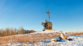 Monument in memory of the Battle on the Ice in 1242 Royalty Free Stock Images