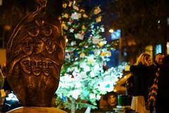Monument in memory of Colectiv Club tragedy victims. BUCHAREST, ROMANIA - DECEMBER 2017, Memory of victims from Colectiv club. The fire from Colectiv Club Stock Photography
