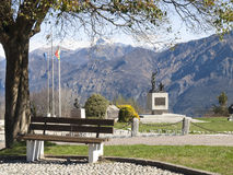 Monument in memory of cyclists Ghisallo Stock Images