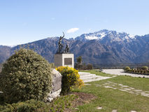 Monument in memory of cyclists Ghisallo Stock Photography