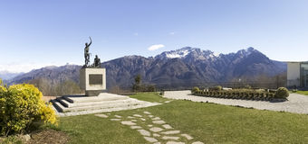 Monument in memory of cyclists Ghisallo Royalty Free Stock Image