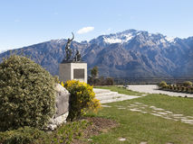 Monument in memory of cyclists Ghisallo Royalty Free Stock Images