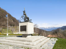Monument in memory of cyclists Ghisallo Royalty Free Stock Photos
