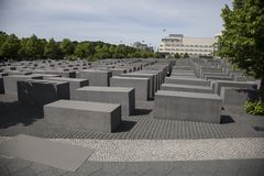 Monument in memory of the Holocaust. In Berlin Royalty Free Stock Photography