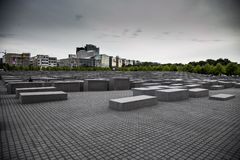 Monument in memory of the Holocaust. In Berlin Stock Image