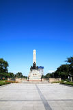 Monument in memory of Jose Rizal at Rizal park Royalty Free Stock Image