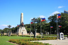 Monument in memory of Jose Rizal at Rizal park Royalty Free Stock Photos