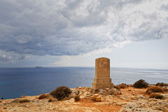 Monument in memory of Sir Walter Norris Congreve in Malta Royalty Free Stock Photos