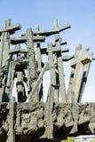 Monument met kruisen royalty-vrije stock foto's