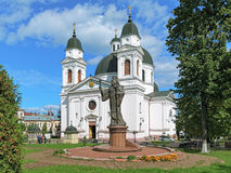 Monument of Metropolitan Eugene (Hakman) in Chernivtsi, Ukraine Royalty Free Stock Photography