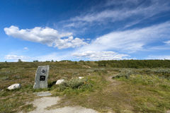 A monument in the middle of nowhere Stock Photography